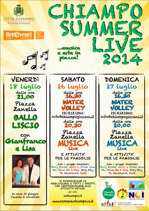 Chiampo summer live Musica U.V.