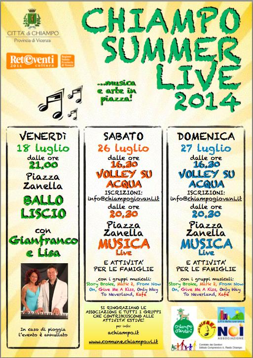 Chiampo summer live MUSICA